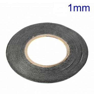 Cinta adhesiva doble cara, de espuma negra polietileno 1mm