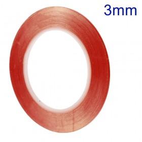 Cinta Adhesiva Doble Cara Transparente 3mm 30m,