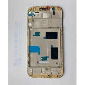 Chasis intermedio de pantalla Huawei Ascend G8 Oro