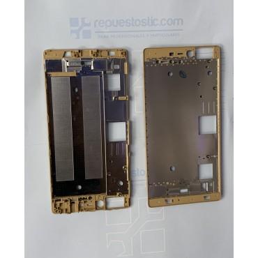 Chasis intermedio de pantalla Huawei Ascend P8 Oro