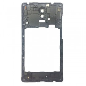 Carcasa intermedio con lente Xiaomi Redmi Note Negro