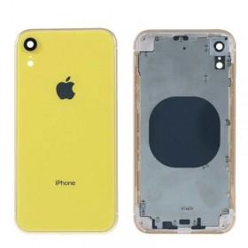 Chasis intermedio con tapa bateria iPhone Xr Amarillo