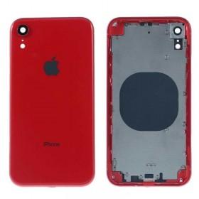 Chasis intermedio con tapa bateria iPhone Xr Rojo