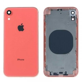 Chasis intermedio con tapa bateria iPhone Xr Coral