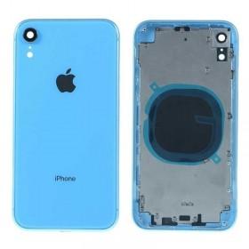 Chasis intermedio con tapa bateria iPhone Xr Azul