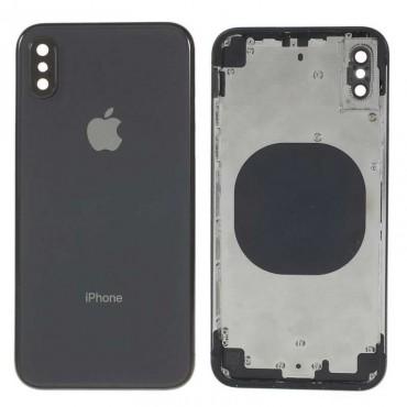 Chasis carcasa tapa bateria iPhone X Negro