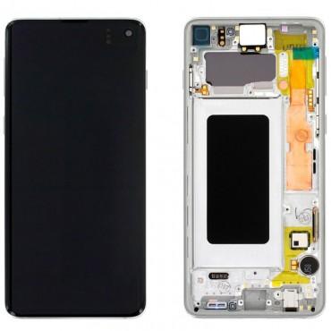 Pantalla completa original Samsung Galaxy S10 G973 Blanco