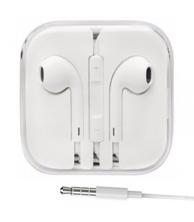 Auriculares manos libres jack iphone Blanco