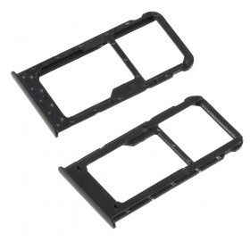 Bandeja Dual SIM Micro SD Huawei P Smart/ Enjoy 7s Negro