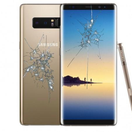 Reparacion pantalla (cristal) + tapa trasera Samsung Galaxy Note 8 N950F