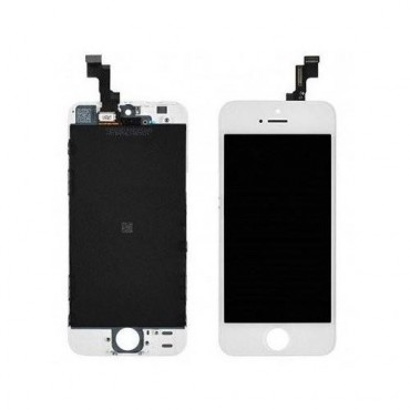 Pantalla completa iPhone SE en color blanca