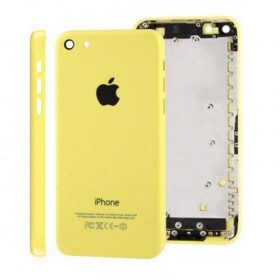 tapa carcasa trasera para iphone 5c en color amarillo
