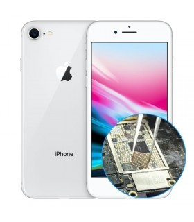 Reparacion chip iluminacion iphone 8