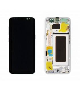 Ecrã LCD Display , Tactil com Marco Original para Samsung Galaxy S8 G950 PLATA