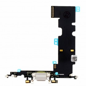 flex con conector de carga, microfono iPhone 8 Plus Blanco