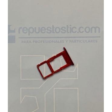 Bandeja Dual SIM Micro SD huawei p smart 2019 Rojo