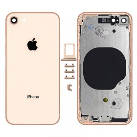 chasis iPhone 8 (tapa con logo + marco) oro