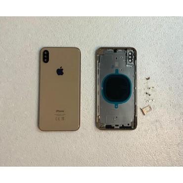 Chasis y tapa trasera sin componente para iPhone Xs Max Dorado