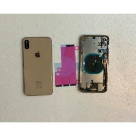 Chasis y tapa trasera con componente para iPhone Xs Max Oro