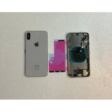 Chasis y tapa trasera con componente para iPhone Xs Max Blanco