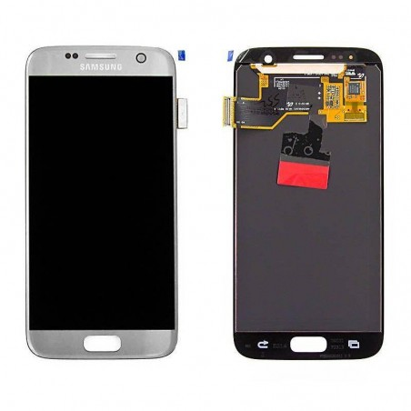 Pantalla completa para Samsung Galaxy S7, G930F ORIGINAL color Plata