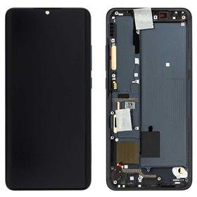 Pantalla completa original con marco Xiaomi Mi Note 10 Negro