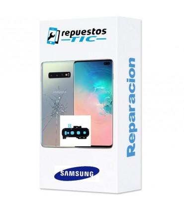 Reparacion Tapa trasera + lente camara trasera Samsung Galaxy S10 Plus G975