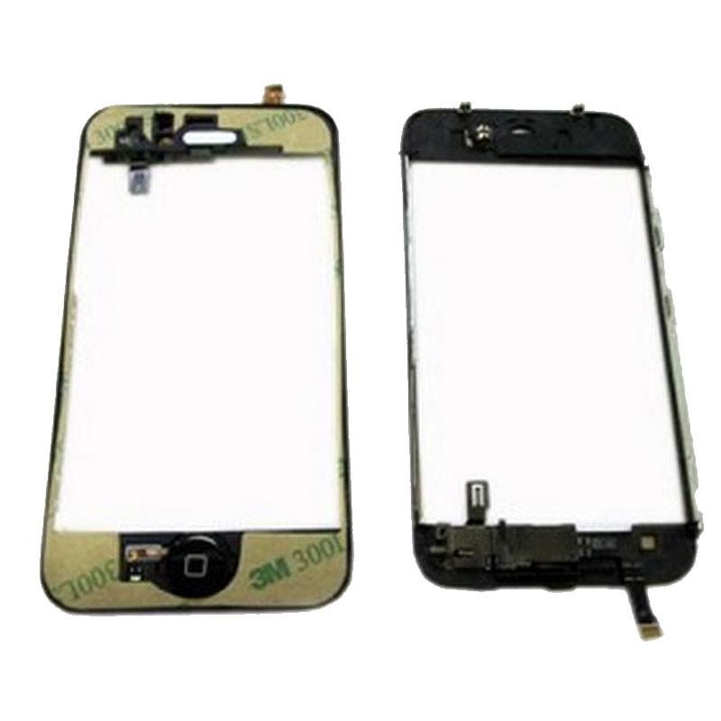 iPhone 3G marco  con anclaje metalico, adhesivo para el digitalizador y boton de menu