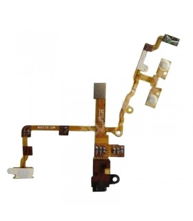 iPhone 3G/ 3GS Flex de encendido con conector de auriculares NEGRO