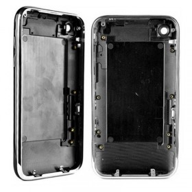 CARCASA trasera NEGRO con marco metalico iphone 3GS de 32GB