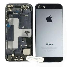 tapa carcasa trasera completa con Componentes  para iphone 5 Negra
