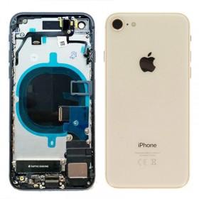 Chasis iPhone 8 completo com componentes (tapa traseira com logo + marco) Oro