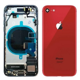Chasis iPhone 8 completo con componentes (tapa trasera con logo + marco) Red