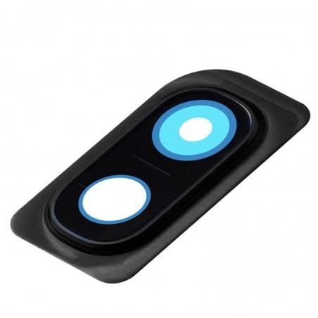 Lente Camara trasera con Marco Samsung Galaxy A10 A105 Negro