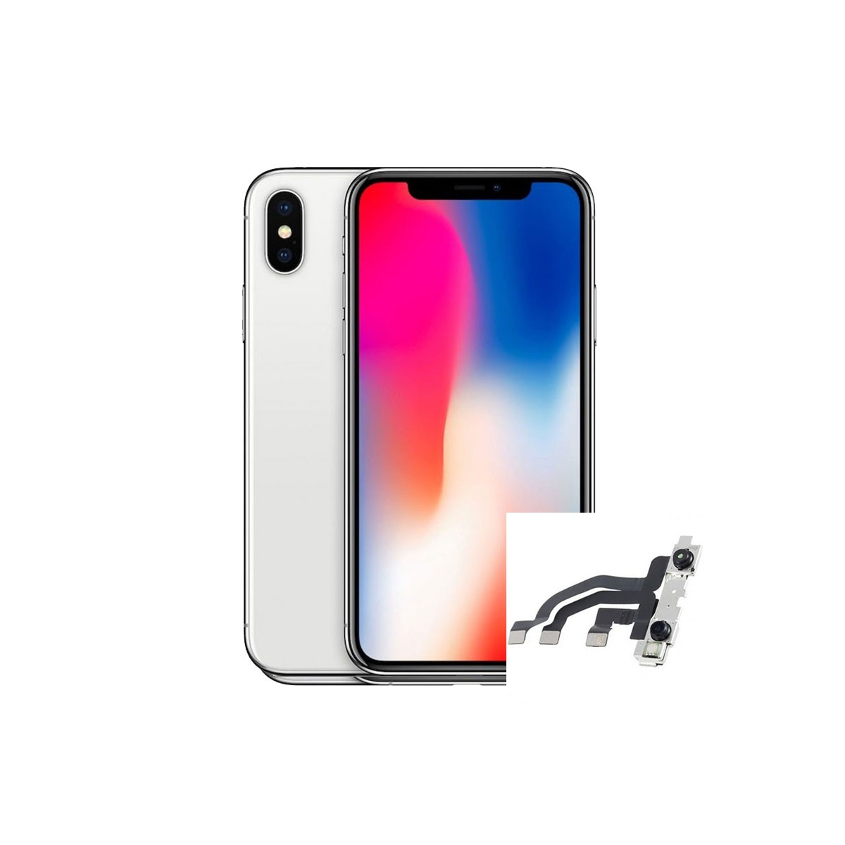 Reparacion Camara delantera frontal selfie iphone X