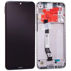 Pantalla original completa con marco Xiaomi Redmi Note 8T Blanco lunar