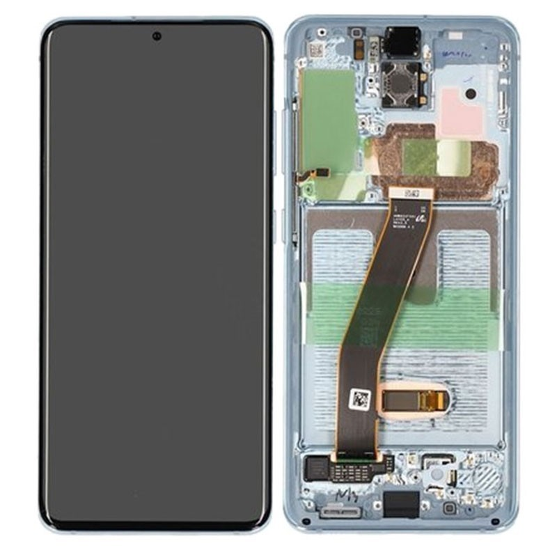 Pantalla completa original Samsung Galaxy S20 4G/ 5G G980 G981 azul