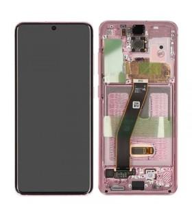 Pantalla completa original Samsung Galaxy S20 4G/ 5G G980 G981 rosa