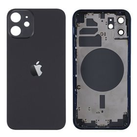 Chasis y tapa trasera sin componente para iPhone 12 Negro