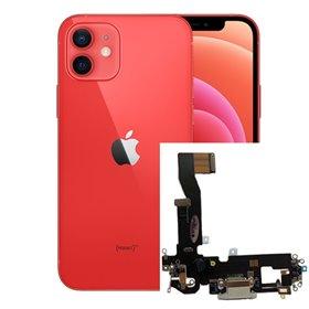 Flex conector de carga iPhone 12 Gris