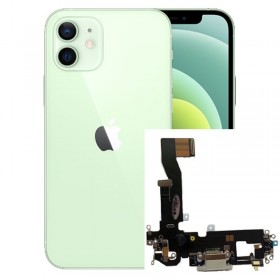 Flex conector de carga iPhone 12 Negro