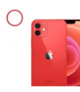 Lente Camara trasera iPhone 12/ 12 Pro Rojo