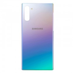 Tapa trasera Samsung Galaxy Note 10 plata azul (aura glow)