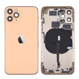 chasis iPhone 11 Pro Max (carcasa tapa trasera con logo + marco) Oro
