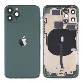 Chasis iPhone 11 Pro Max (carcasa tapa trasera con logo + marco) Verde