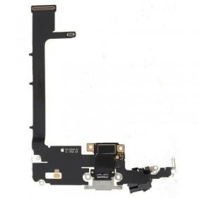 Conector de carga iPhone 11 Pro Max Plata