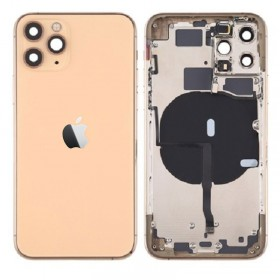 Chasis iPhone 11 Pro (carcasa tapa trasera con logo + marco) Oro