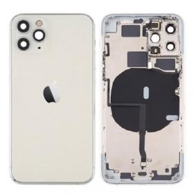 Chasis iPhone 11 Pro (carcasa tapa trasera con logo + marco) Plata
