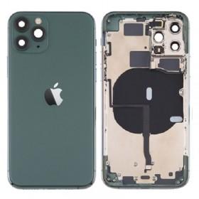 Chasis iPhone 11 Pro (carcasa tapa trasera con logo + marco) Verde