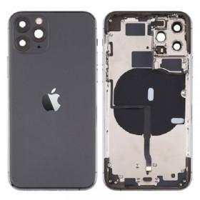 Chasis con componentes iphone 11 pro (carcasa tapa trasera con logo + marco) negro